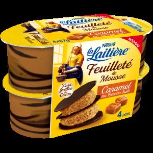 Feuilleté de mousse caramel beurre salé