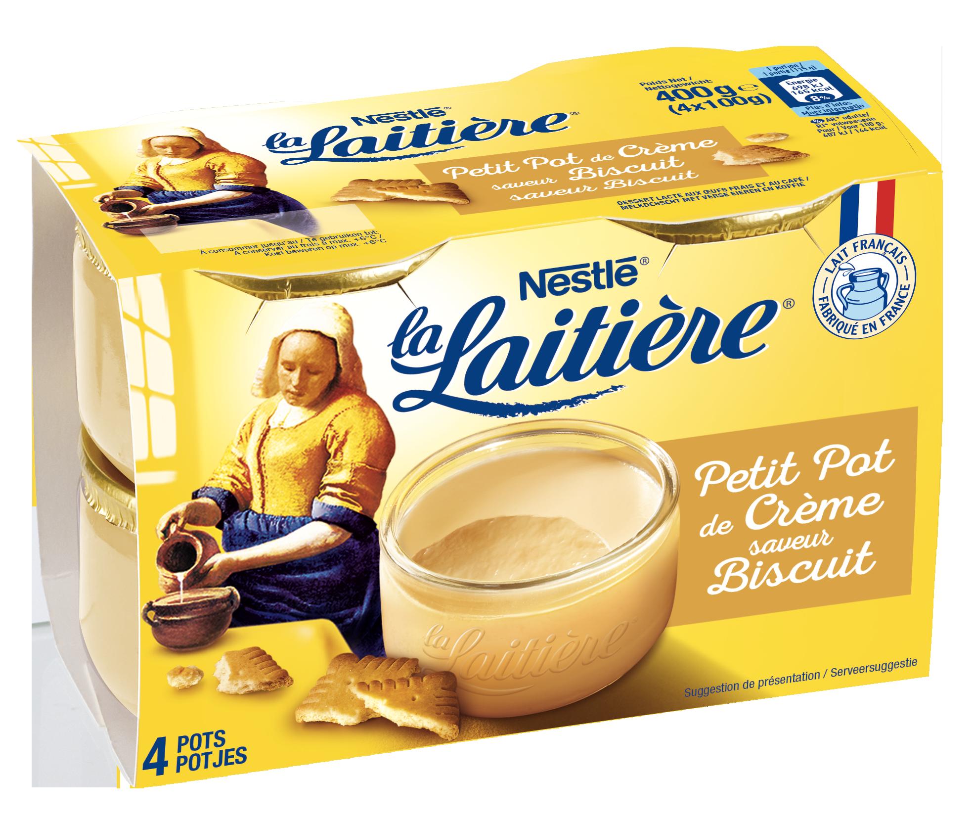 Petit pot de Crème Saveur Biscuit