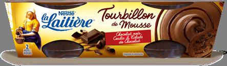 Tourbillon de Mousse Chocolat noir, Coulis & Éclats de Chocolat