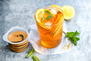 thé glacé agrumes menthe